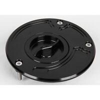 CNC Fuel Gas Cap For Kawasaki Z1000 ZRX1200 ZX10R ZX6R ZX9R ZZR600 ZZR1200 Black