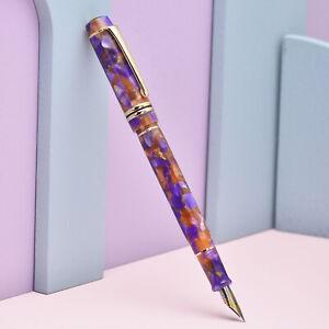 Kaigelu 316A Orange-purple Acrylic Fountain Pen, EF/F/M Nib Classic Pen Gift