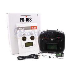 Flysky FS-I6S 10ch 2.4G RC Transmitter & FS-iA6B Receiver for Drone Black