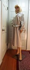 Women's Coat Misty Harbor Beige Fully Lined Trench Coat Belted Open Front Size12