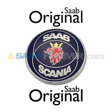 Saab 9-5 Sedan Emblem Rear Trunk Scania 1999-2000 4D New Genuine Oem 4833638 (Fits: Saab)