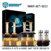 Combo 4Sides 9005+H7+H11 LED Headlight Fog for Mazda 3 04-06 CX-7 07-12 6 11-13