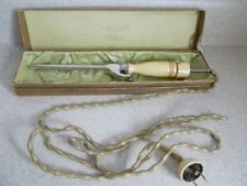 Antique MANNING BOWMAN Electric CURLING IRON Cloth CORD original BOX not working