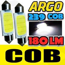 2X WHITE HIGH POWER LED 38MM C5W 239 272 BULB NO ERROR NUMBER PLATE LIGHT VW