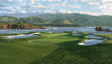 """The 17th Hole Pebble Beach Golf Links"" Linda Hartough 20"" Giclee Canvas"