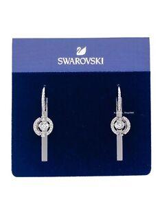 NEW SWAROVSKI Brand Rhodium Sparkling Dance Crystal Pierced Earrings 5504652