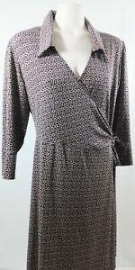 LAUNDRY by DESIGN Women's Wrap Dress 3/4 Sleeve V-Neck Size XL.