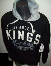 Los Angeles KINGS PULL OVER Franchise Hoody Sewn LETTERING Logo M L XL  Black