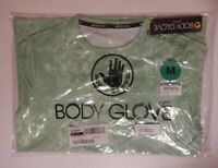Body Glove Mens Lime Green Graphic Crew T Shirt Tee Quick Dry Size Medium