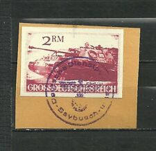 GERMANY  CROSSREICH OCCUPATION LOCAL TOPIC RARE IMPERF USED