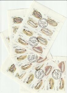 1972 State of Oman, Different types of fish, СТО, 5 mini sheet