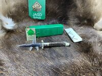 1991 Vintage Puma 563 Medici Knife With Stag Handles With Tag - Mint In Box