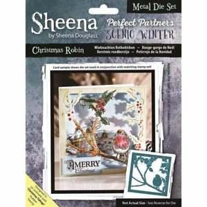 1SALE New Sheena Douglass Metal Cutting  Die Christmas Robin