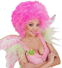 heiße sexy bauschige Frisur Perücke Perücken neon pink Fasching KARNEVAL HOT
