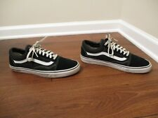 Used Worn Size 12 Vans Old Skool Skateboard Shoes Black White