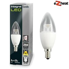 Integral Candle 4W Warm Light Bulb 2700K 250lm E14 Non-Dimmable Clear-Lamp