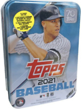 2021 Topps Series 1 Baseball Factory Sealed Tin - 75 Cards - Random Player