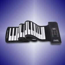 Portabile 61 TASTI TASTIERA MUSICALE PIANOLA FLESSIBILE PIEGHEVOLE PIANOFORTE