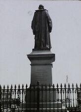William Harvey Statue (Back), Folkestone, England, Magic Lantern Glass Slide