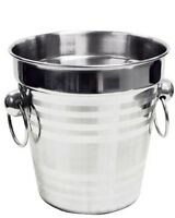 stainless steel ice bucket 14 X 14 Cm Approx ( This Is Not For Bottle )