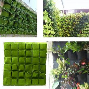 Vertical Wall Planters  Garden Outdoor Indoor  Pockets Grow Bags  for Garden