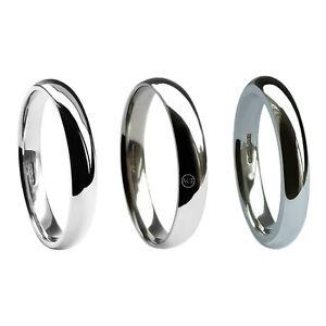 3mm Platinum Wedding Rings Court Comfort UK HM Med. Heavy & Extra Heavy 950 band