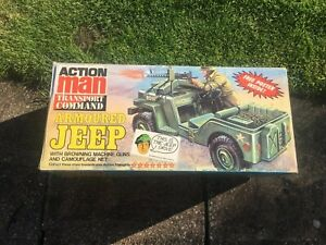 VINTAGE ACTION MAN ARMOURED JEEP Boxed with Stars