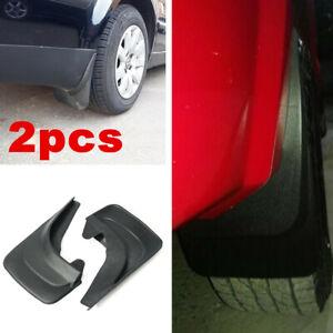 For Car Truck Van Molded Splash Guards Mud Flaps Black ABS Universal - 2pc Rear