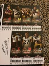 2015 Minnesota Golden Gophers Football Season Ticket Stub Strip Sheet Set