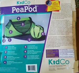 KidCo P102 Peapod Self Inflatable Mattress Portable Indoor Outdoor Travel Bed