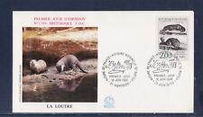 enveloppe 1er jour   faune animaux  Buffon  la loutre  21  Montbard     1988
