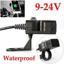 Waterproof Dual USB 12V Motorcycle Handlebar Intelligent Charger Socket w/Switch