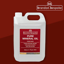 Brandon Bespoke Pure Mineral Oil - For Wood, Slate & Stone - Food Safe - 5 Litre