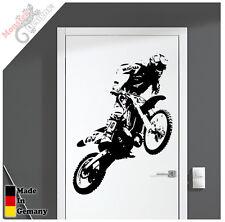 "Motocross MX WandTattoo / Türtattoo ""Einmalig"" 81cm Aufkleber MX Wandaufkleber"