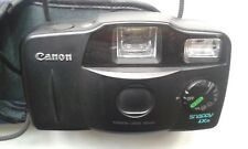 Canon Snappy LX II 35mm Compact Film Camera with built-in flash & original case