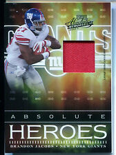 2007 Playoff Absolute Memorabilia Heroes BRANDON JACOBS Prime Patch Rare SP #/50