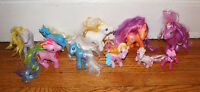 "Vintage MY LITTLE PONY Lot of 10 Mixed Ponies 3"" - 5"" Figures Hasbro Toy Horse"