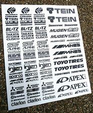 RC Drift stickers decals Tamiya HPI Losi Drift-R Kyosho black on clear vinyl