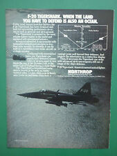 9/1984 PUB NORTHROP F-20 TIGERSHARK US AIR FORCE USAF TACTICAL FIGHTER AD