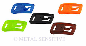 ABS PLASTIC BUCKLE Replacement Spare Silicone Belt Nickel Free Allergy No Metal