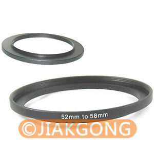 52mm-58mm 52-58 mm 52 to 58 Step Up Filter Ring Adapter