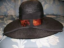 Vintage Ladies Wide Brimmed Hat with Attractive Band