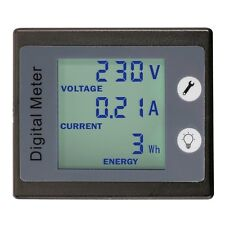 AC 80-260V 100A Current Voltage Power Energy Meter Ammeter Voltmeter And CT 3in1