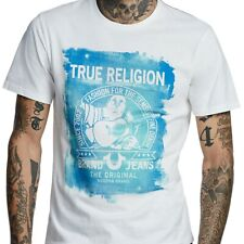 True Religion Men's Painted Buddha Fashion Tee T-Shirt in White