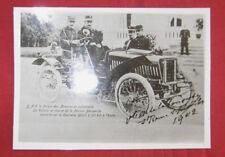 N°4159 / photo retirage voiture de course DECAUVILLE  en 1902