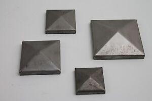 Abdeckkappe Quadrat Blech 1,5mm Stahl roh- Metall Profil Deckel Pfostenkappe VKR