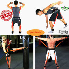 150 lbs Resistance Bands Boxing Crossfit Training Belt Leg Strength Agility Trai