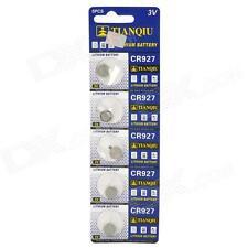 Confezione 5 Batteria Pila CR927 Bottone Tonda Litio 3V hsb