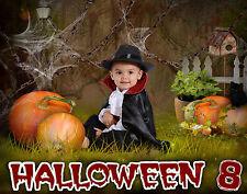 H8 Halloween Digital Backgrounds Backdrops Children Holiday Senior Photography