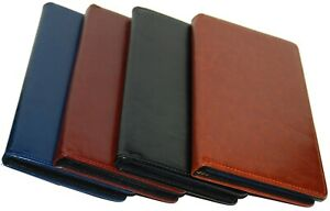 Faux Leather 75 Cards Business ID Credit Card Holder Book Case Keeper Organizer